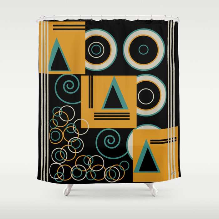 Modern Aztec Shower Curtain By Waterflybooks