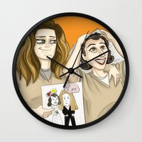 oitnb Wall Clocks featuring OITNB Nicky and Morello by StephDere