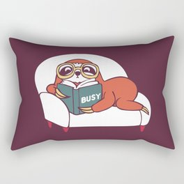 Busy  Sloth Rectangular Pillow