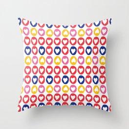 Hearts stripes Throw Pillow