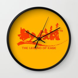 The Legend of Kage Wall Clock
