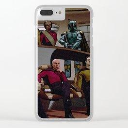 Boba Fett vs Captain Picard Clear iPhone Case
