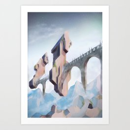 cloud bridge  Art Print
