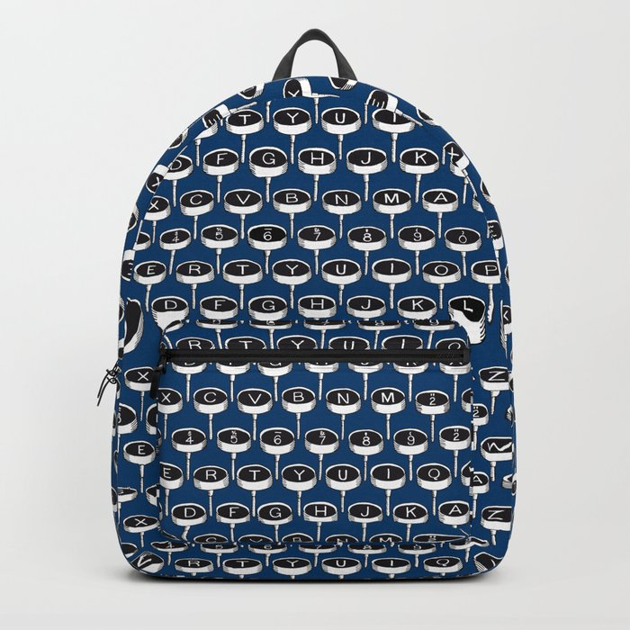 Infinite Typewriter_Blue Backpack