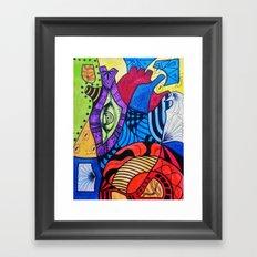 Rompecabezas de Corazon Framed Art Print