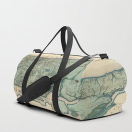 Egbert Viele 1865 Topographic Map of New York City Duffle Bag
