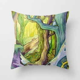 Old Forest Throw Pillow