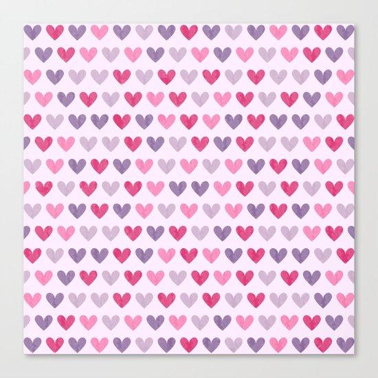 Colorful hearts V Canvas Print