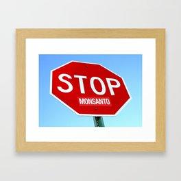 STOP MONSANTO Framed Art Print