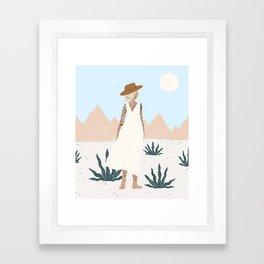 white sands Framed Art Print