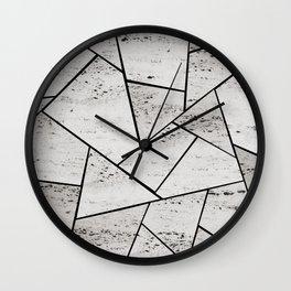 Concrete Geometric Glam #1 #geo #decor #art #society6 Wall Clock