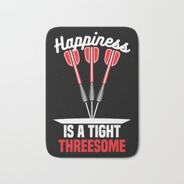 Happiness is a Tight Threesome | Darts Bath Mat