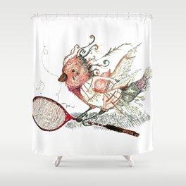 The Wild Badminton Birdie Shower Curtain