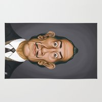 salvador dali Area & Throw Rugs featuring Celebrity Sunday ~ Salvador Dali by rob art | illustration