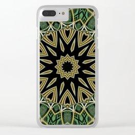 Torus Line Mandala 3 Clear iPhone Case