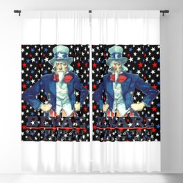 Beware The Wrath Of  A Patient Man Patriotic Star Blackout Curtain