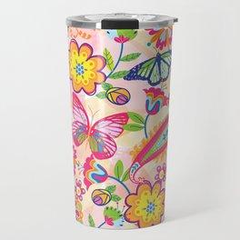 Butterflies and Fowers Travel Mug
