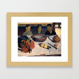 The Meal by Paul Gauguin Framed Art Print