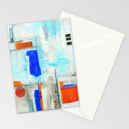 Nautical Intentions, Abstract Art Painting Stationery Cards