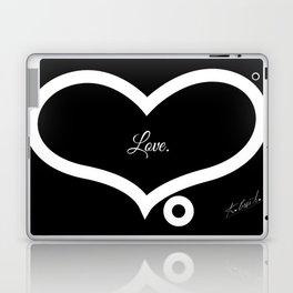 Love. (Black)  Laptop & iPad Skin