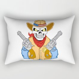 Western Cowboy Skull Rectangular Pillow
