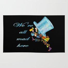 We're All Mad Here - Mad Hatter - Alice In Wonderland Rug