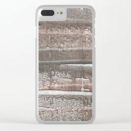 Gray colored watercolor Clear iPhone Case