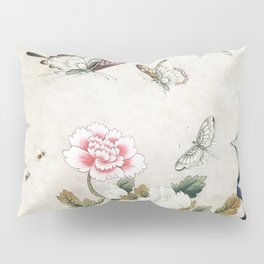 Butterflies and flowers : Minhwa-Korean traditional/folk art Pillow Sham