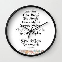 Stars Hollow, CT Wall Clock