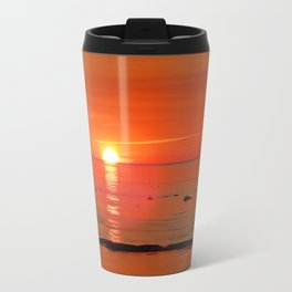 Kayaker and the Setting Sun Travel Mug