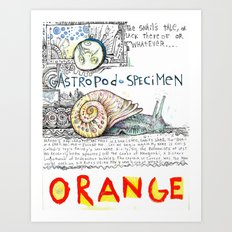 Snail Orange Alert Art Print