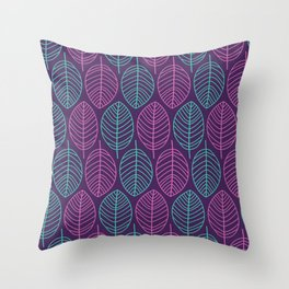 Leaf outlines Throw Pillow