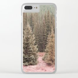 Look For Me In The Trees Clear iPhone Case