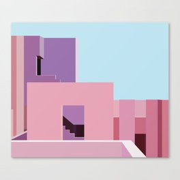 The Red Wall Canvas Print