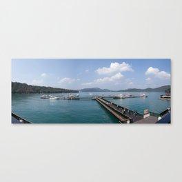 Sun Moon Lake Panoramic View Canvas Print