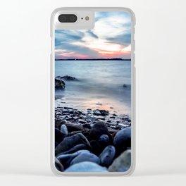 Lake Waco Long Exposure Clear iPhone Case