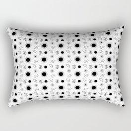 Hand drawn floral pattern Rectangular Pillow