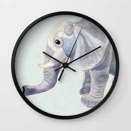 Cuddly Elephant II Wall Clock