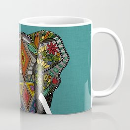 floral elephant teal Coffee Mug