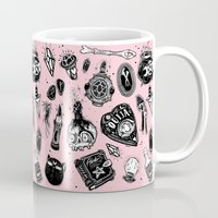 loll3 Mugs featuring Witchy  by lOll3