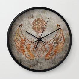 Angel Wings Metatron Flower of Life T-shirt Wall Clock