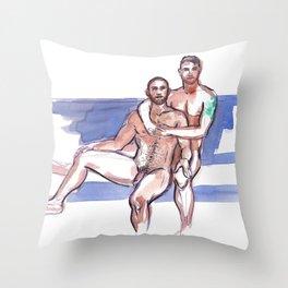 RAFAEL & DOUG, Nude Men by Frank-Joseph Throw Pillow