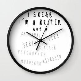 Writing Life Wall Clock