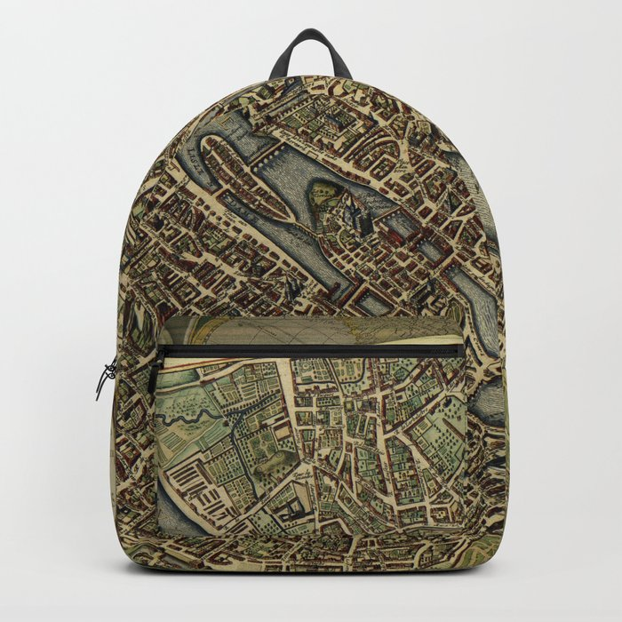 Old Paris Map And Other Manuscripts Backpack By Brittaglodde Society6