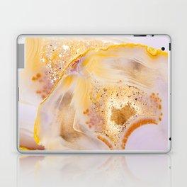 Modern Blush and gold Agate Laptop & iPad Skin