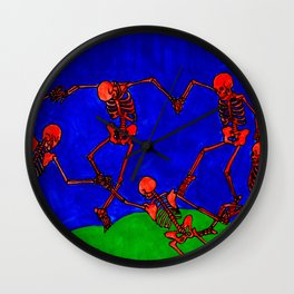 Red Dance, after Matisse Wall Clock
