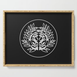 Date Clan · White Mon · Outlined Serving Tray