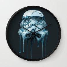 Stormtrooper Melting Dark Wall Clock