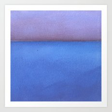 Blue sea Purple sky Art Print