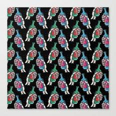 skull galaxy pattern Canvas Print